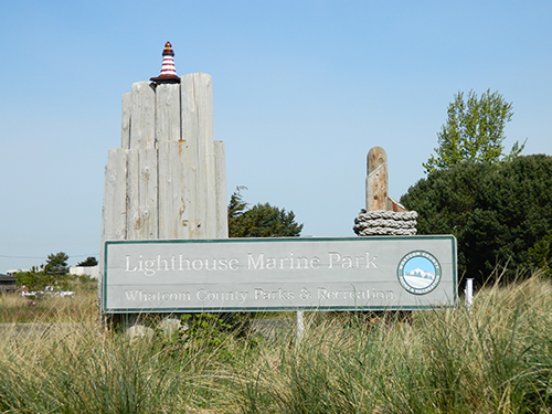 Lighthouse Marine Park sign in Point Roberts