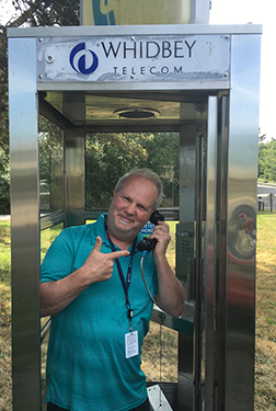 community phone booth free local calls